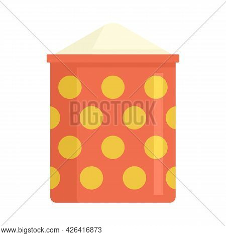 Dotted Flour Sack Icon. Flat Illustration Of Dotted Flour Sack Vector Icon Isolated On White Backgro