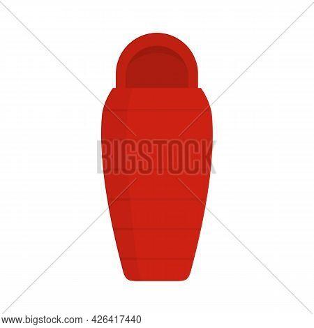 Camp Sleeping Bag Icon. Flat Illustration Of Camp Sleeping Bag Vector Icon Isolated On White Backgro