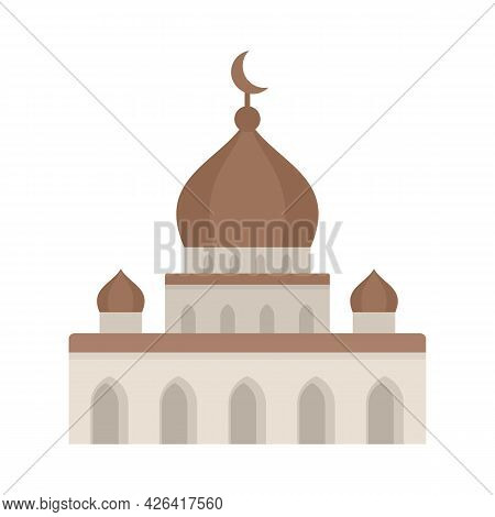 Islam Mosque Icon. Flat Illustration Of Islam Mosque Vector Icon Isolated On White Background