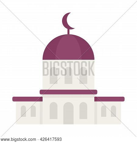 City Mosque Icon. Flat Illustration Of City Mosque Vector Icon Isolated On White Background