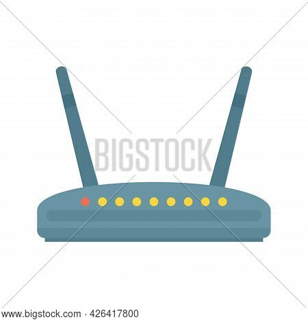 Computer Router Icon. Flat Illustration Of Computer Router Vector Icon Isolated On White Background