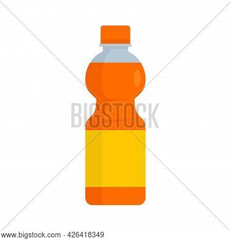 Orange Soda Icon. Flat Illustration Of Orange Soda Vector Icon Isolated On White Background