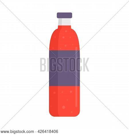 Soda Plastic Bottle Icon. Flat Illustration Of Soda Plastic Bottle Vector Icon Isolated On White Bac
