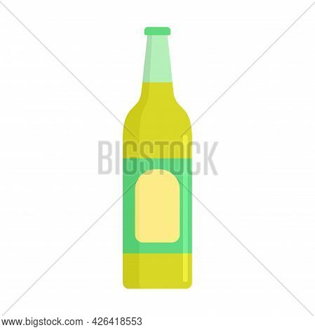 Lime Soda Drink Icon. Flat Illustration Of Lime Soda Drink Vector Icon Isolated On White Background