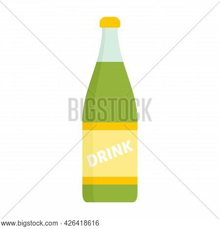 Diet Soda Bottle Icon. Flat Illustration Of Diet Soda Bottle Vector Icon Isolated On White Backgroun