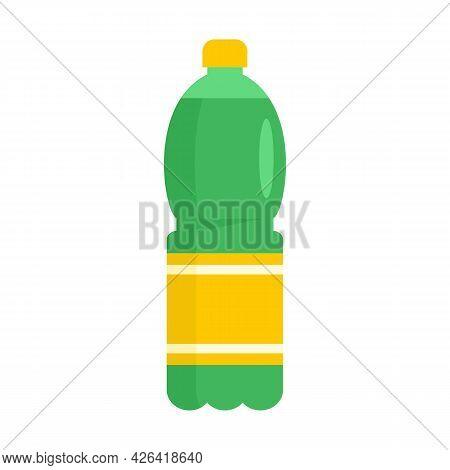 Pineapple Soda Icon. Flat Illustration Of Pineapple Soda Vector Icon Isolated On White Background