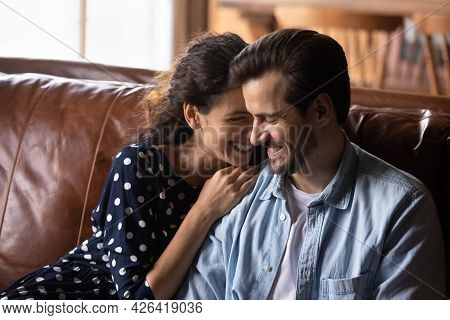 Happy Millennial Couple Enjoying Being Together In New House