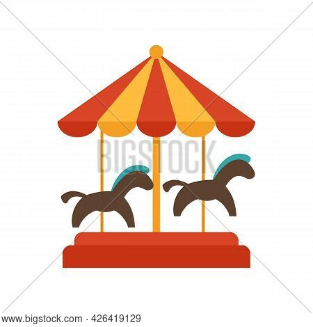 Carousel Icon. Flat Illustration Of Carousel Vector Icon Isolated On White Background