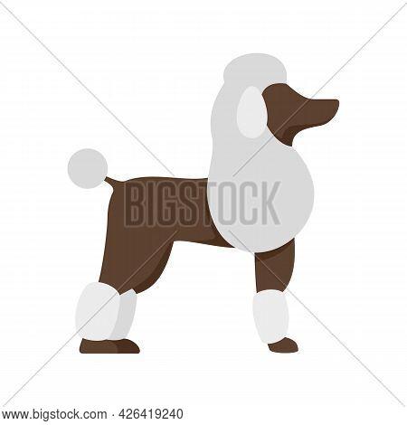 Poodle Dog Icon. Flat Illustration Of Poodle Dog Vector Icon Isolated On White Background