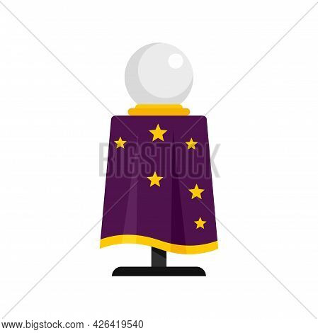 Magician Ball Icon. Flat Illustration Of Magician Ball Vector Icon Isolated On White Background