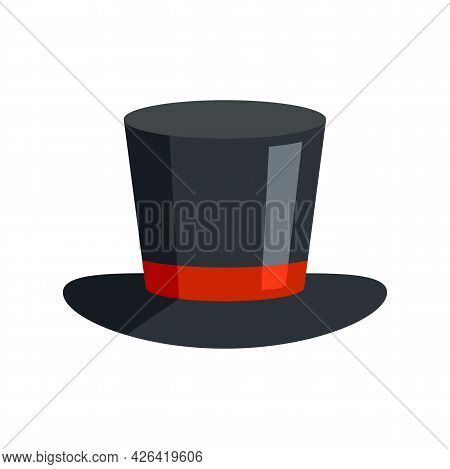 Magician Hat Icon. Flat Illustration Of Magician Hat Vector Icon Isolated On White Background