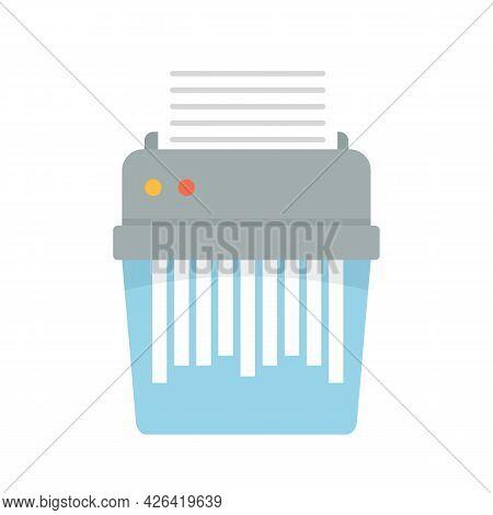 Shredder Icon. Flat Illustration Of Shredder Vector Icon Isolated On White Background