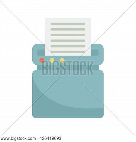 Safety Shredder Icon. Flat Illustration Of Safety Shredder Vector Icon Isolated On White Background