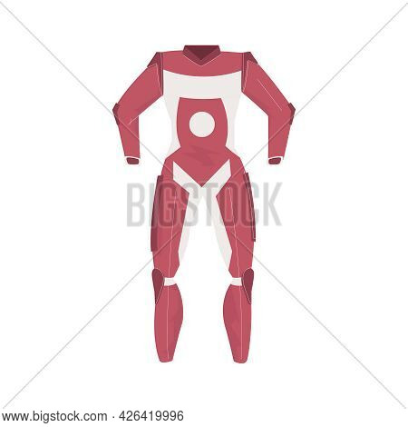 Flat Red Suit For Car Racer Vector Illustration