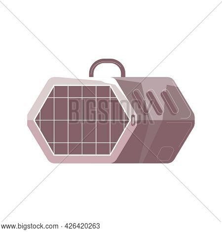 Pet Carrier Icon In Flat Style Vector Illustration