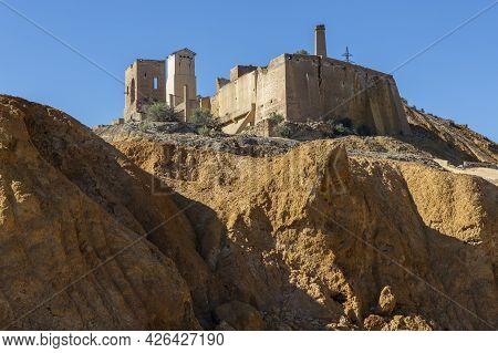 Abandoned Mine Ruins In Mazarron, Murcia, Spain