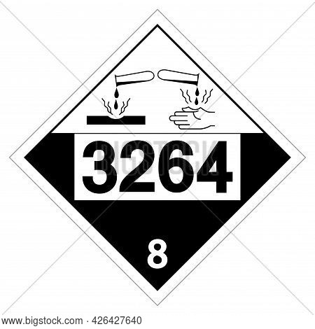 Un3264 Corrosive Liquid Symbol Sign, Vector Illustration, Isolate On White Background Label. Eps10