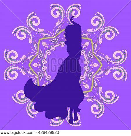 Belly Dancer Girl Silhouette