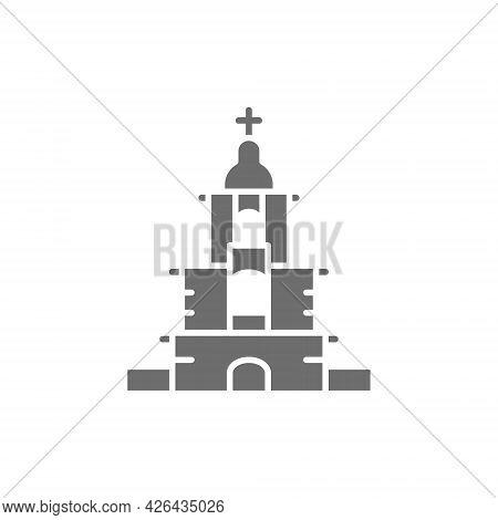 Vector Ukrainian Orthodox Church, Sanctuary Gray Icon.