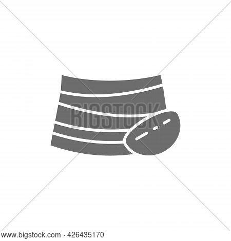 Cossack Belt, National Ukrainian Clothing Gray Icon.