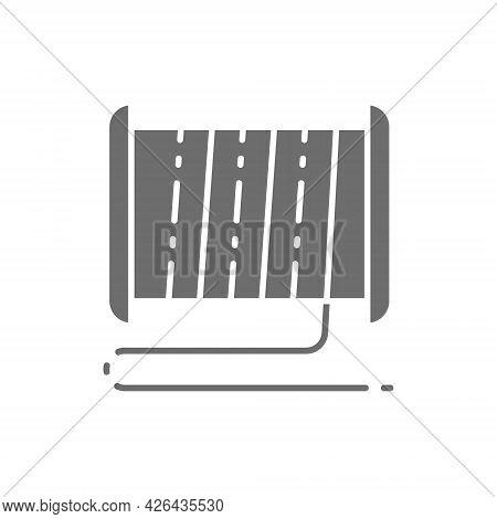 Plastic Thread Reel For 3d Printer Grey Icon.