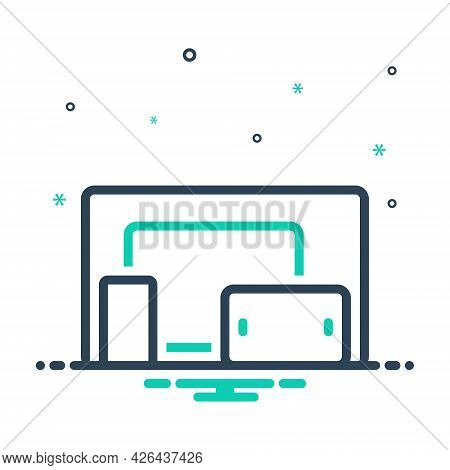 Mix Icon For Multiplatform Devices Electronic  Technology Responsive