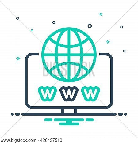 Mix Icon For Web Website Internet Social Globe Www