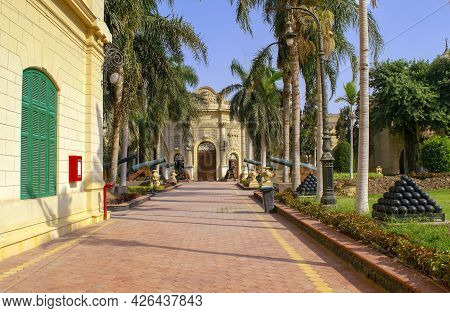 Cairo - Egypt - October 4, 2020: Presidency Museum Entrance With Alley In The Inner Courtyard With O