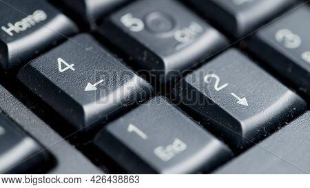Macro Photo Of Black Computer Keyboard, Keys Close Up