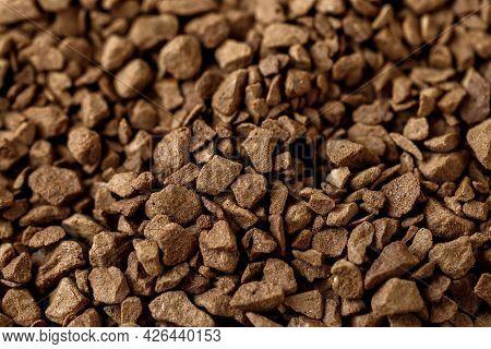 Instant Granular Coffee Macro Photo, Many Small Granules