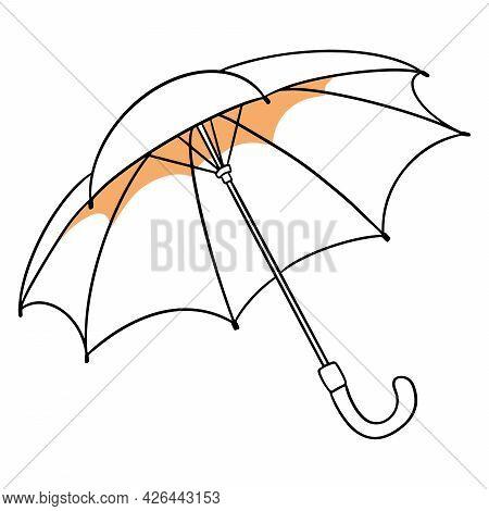 Rain Protection. Open Umbrella. For The Wet Season, Autumn.