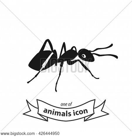 Ant Sign. Ant Isolated Simple Vector Icon