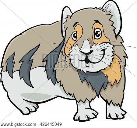 Cartoon Illustration Of Funny Pika Comic Animal Character