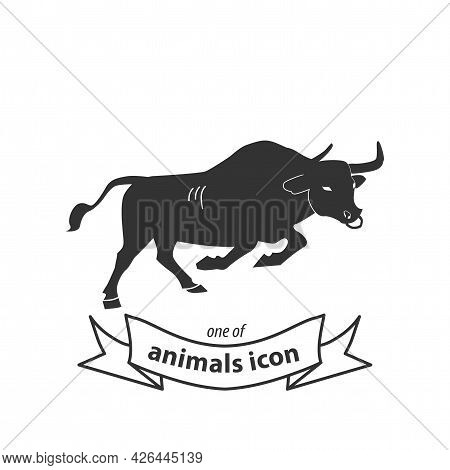 Bull Sign. Bull Isolated Simple Vector Icon