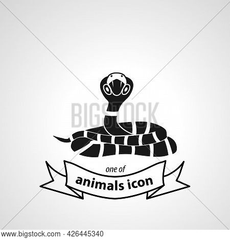 Cobra Snake Sign. Cobra Isolated Simple Vector Icon