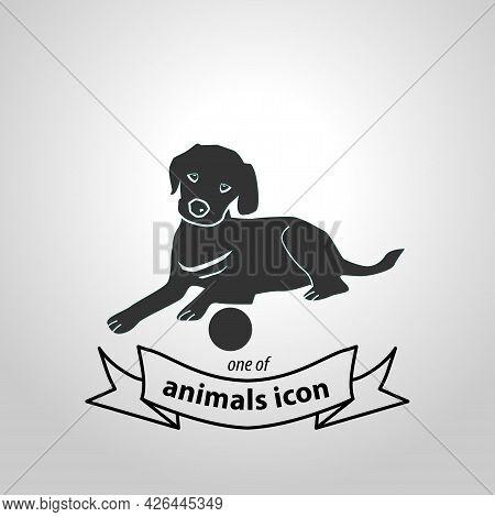 Labrador Retriever Sign. Labrador Isolated Simple Vector Icon