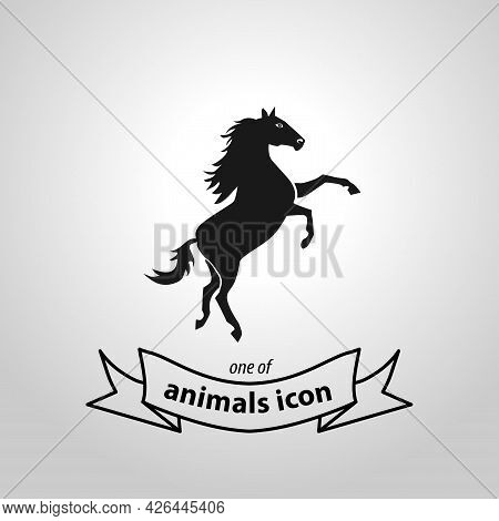 Horse Sign. Horse Isolated Simple Vector Icon