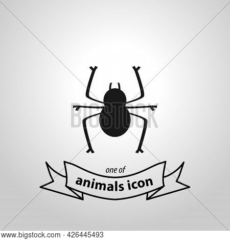 Spider Sign. Spider Isolated Simple Vector Icon