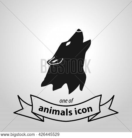 Wolf Head Sign. Wolf Isolated Simple Vector Icon