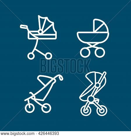Baby Carriage Vector Line Icon Set. Baby Carriage Vector Line Icon Set.