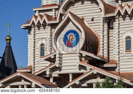 Fragment Of The Facade Of The Church Of Archangel Michael In The Village Of Busharino, Moscow Region