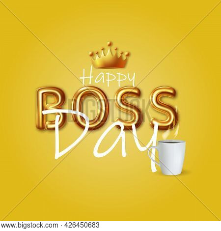 Boss Day Holiday Design Vector Background Vector