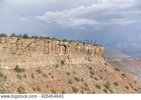 Mesa Landform During The Day At Hurricane Mesa, Utah