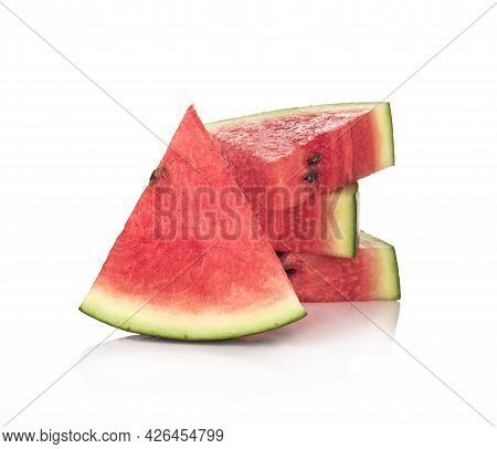 Slice Watermelon Isolated On A White Background