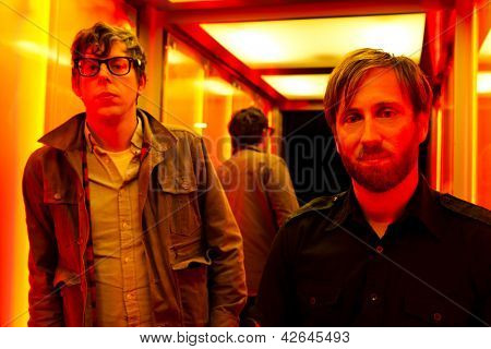 PARIS, FRANCE - NOVEMBRE 25, 2011: Portrait of the american rock group The Black Keys with Dan Auerbach and Patrick Carney at Paris, France on novembre 25th, 2011