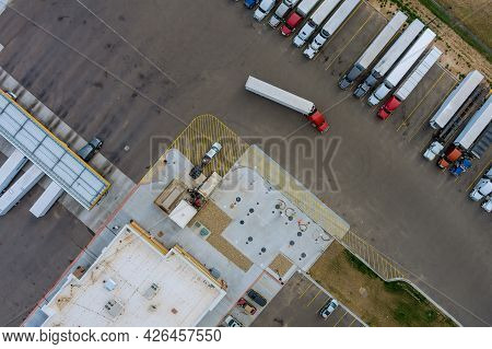 Gas Station For Refueling Vehicles, Trucks And Tanks With Fuel, Gasoline And Diesel Near Highway On