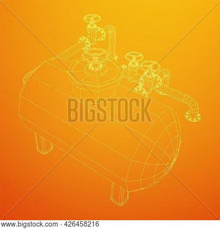 Oil Tank For Storage Of Flammable Materials And Pipeline With Valve