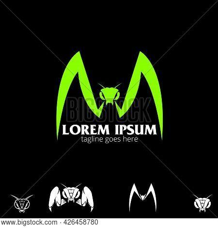 M Letter Based Mantis Symbol For Esport Team, Brand, Design Element Or Any Other Purpose.