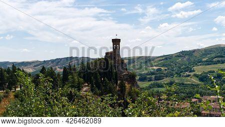 The Clock Tower (torre Dell\'orologio) Of Brisighella. The Clock Tower Was Part Of The Defensive Str
