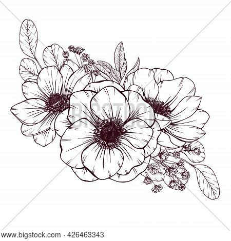 Elegant Wild Flowers Bouquet, Rustic Wedding Floral Arrangement, Vintage Style Flowers, Baby's Breat
